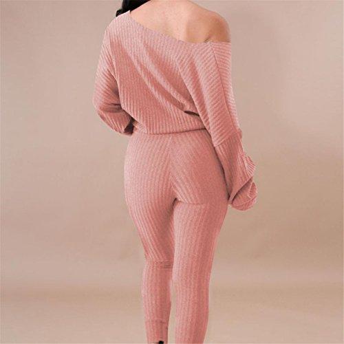 Pantaloni Felpa Tuta Donna Set Sport Lounge Indossare Vestito Casual Camicetta Manica Maglioni Cappotto Abiti Giacca Gonne Primavera Estate In Chiffon Di Cotone Stampa Rosa
