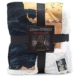 Manta De Regalo Del Mapa De Juego De Tronos De Westeros Sherpa   Got Merchandise Super Colcha Suave De Tiro Reversible… 3