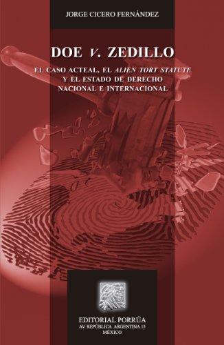 Doe v. Zedillo (Biblioteca Jurídica Porrúa) por Jorge Cicero Fernández