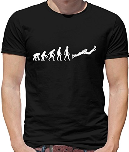 Evolution of Man RKO (Outta Nowhere) - Herren T-Shirt - Schwarz - M (Männer Wwe T-shirts)