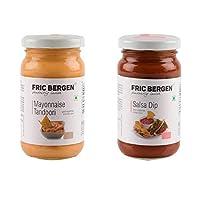 Fric Bergen Mayonnaise Tandoori Sauces and Salsa Dip-Bottle Combo