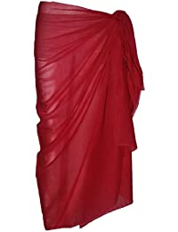 Plain Deep Red Cotton Sarong