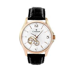 Continuum C15H28 - Reloj analógico de Pulsera para Hombre (automático), Correa de Cuero Negra de Continuum