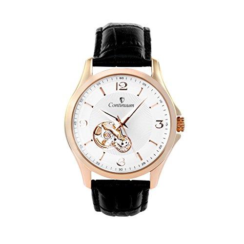 Continuum Herren-Armbanduhr Automatik Analog Leder Schwarz - C15H28