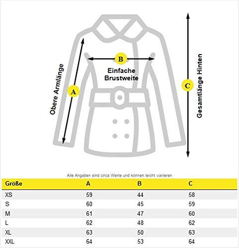 Marikoo Damen Jacke Steppjacke Übergangsjacke mit Kapuze gesteppt B600 (X-Small, Hellgrau) - 2
