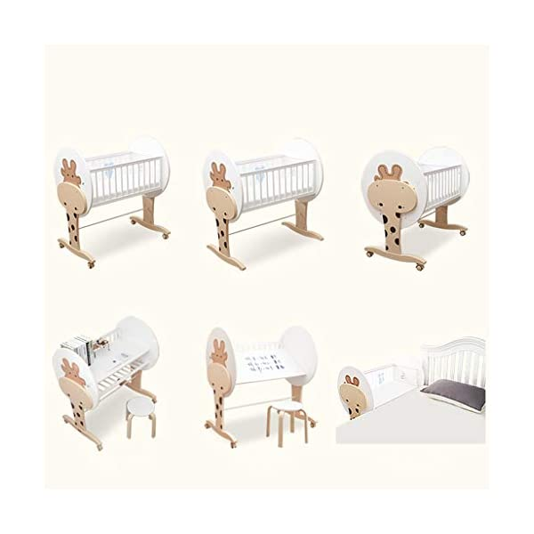 DUWEN-Cot bed Solid Wood Multifunctional Baby Cot European Toddler Bed Game Bed Children's Bed DUWEN-Cot bed 1. This perfect multi-functional crib is your baby's best gift. It gives the baby a space-like surprise experience, cultivates the baby's independent consciousness, and exercises the baby's hand and foot coordination ability. It is your best choice. 2. Multifunctional crib is made of environmentally friendly pine wood, which is tough and durable, not easy to crack and deform. The load is up to 120KG. The crib is made of safe and environmentally friendly paint. It is non-irritating and harmless to the baby. Mother can buy with confidence. 3. The three pedestal positions of the crib are suitable for the baby's growth stage, improve visibility and ventilation in all directions, select the gear according to the baby's body and age, meet the baby's various growth needs, the space is larger, the use is more comfortable. 9
