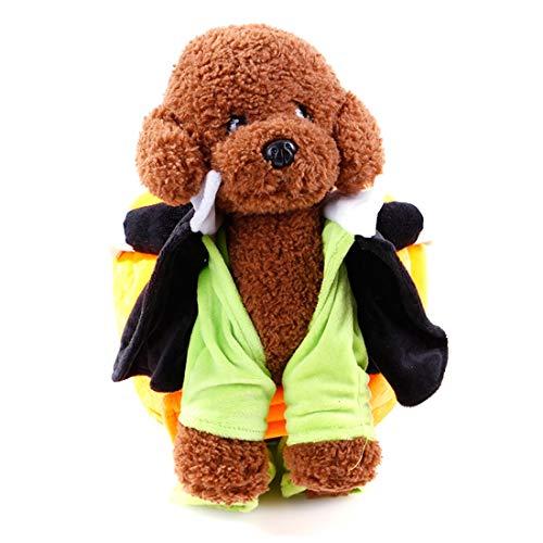 AUSWIEI Halloween Pet Dress-up Kostüme Cosplay Zubehör Haustier Kostüm verwandelt Cosplay Standing Kleidung (Color : Transformed, Size : XL)