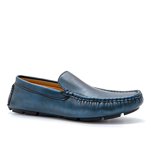 London Footwear ,  Herren Durchgängies Plateau Sandalen mit Keilabsatz Blau