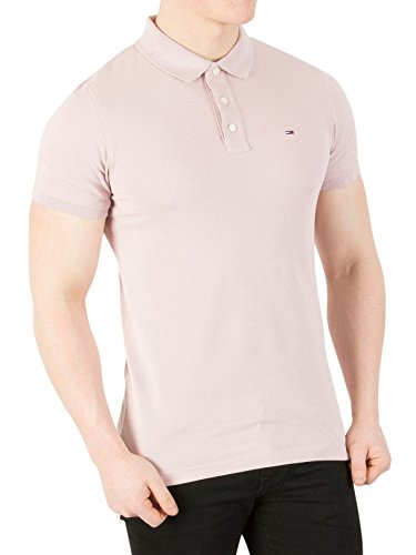Tommy Jeans Hombre Basic Polo Manga Corta Normal Morado (Violet Ice 568) X-Large