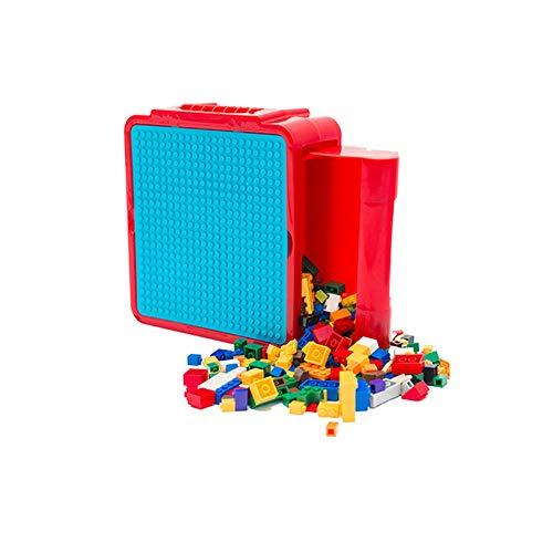 TrifyCore Plastic Puzzles Storage Box Puzzle Keeper mit Griff Kunststoff-Speicher-Behälter-Kasten für Kinder Spielzeug Rot Blau 1PC Keeper Container