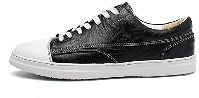 scarpe da ginnastica Piatte Uomo in Pelle Scarpe Casual Daily,nero,EU41 US8(M) UK7   Scelta Internazionale    Uomini/Donne Scarpa