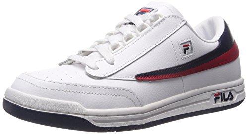 Fila Vintage Herren Ursprüngliche Tennistrainer, Weiß, 42 EU - Fila Laufen Männer Schuh