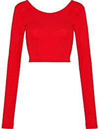 American Apparel Womens/Ladies Long Sleeve Cotton Spandex Crop Top