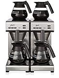 Bonamat Matic Twin, Kaffeemaschine Festwasser inkl. 4 Kannen - Neues Design