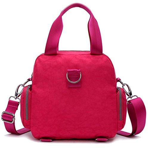 Auspicious beginning Wasserdichte Schultermultifunktions-Nylon Oxford-Gewebe rot Umhängetasche Handtasche Rot