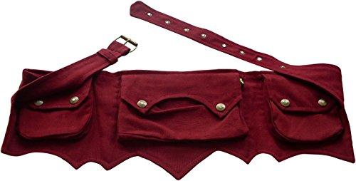 NATURAL FLOW Money Belt, Marsupio portasoldi Uomo Unisex adulti rosso Burgundy taglia unica