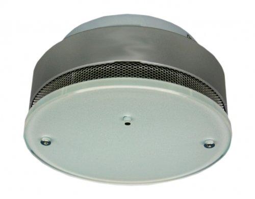 optischer Rauchwarnmelder funkvernetzbar Silber-Design Rauchmelder