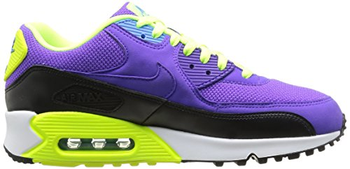 Nike Air Max 90 Essential, Baskets mode homme Violet (Black/ Purple/ Yellow)