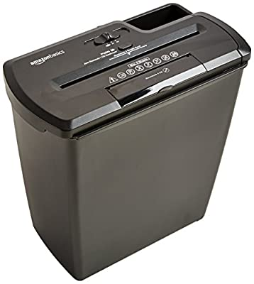 AmazonBasics 8 Sheet Strip Cut Shredder with CD Shred