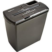 AmazonBasics Aktenvernichter, 8 Blatt, Streifenschnitt, CD-Schredder
