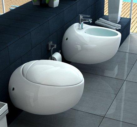 Sanitari Vaso WC e Bidet sospeso moderno ceramica Bagno Italia I