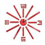 Espejo Digital 3D Etiqueta De La Pared Reloj De Pared Decoración del Hogar Reloj De Pared,Red