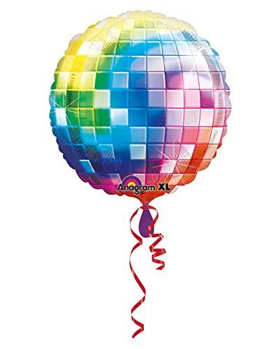 Horror-Shop Jumbo Folienballon 70er Jahre Disco Kugel als Dekoration   81cm
