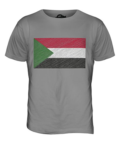 CandyMix Sudan Kritzelte Flagge Herren T Shirt Hellgrau