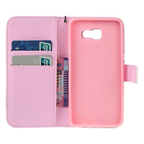 PU Galaxy A5 (2016) Hülle case vintage ledertasche, Handy Schutzhülle für Samsung Galaxy A5 (6) SM-A510F (2016) Hülle Leder Wallet Tasche Flip Brieftasche Etui Schale (+Staubstecker) (3) 10