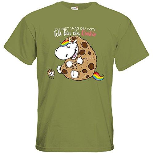 getshirts - Pummeleinhorn - T-Shirt - Du bist was du isst Green Moss