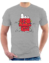 2d5f17208 Peanuts Christmas Light House Snoopy Men's T-Shirt