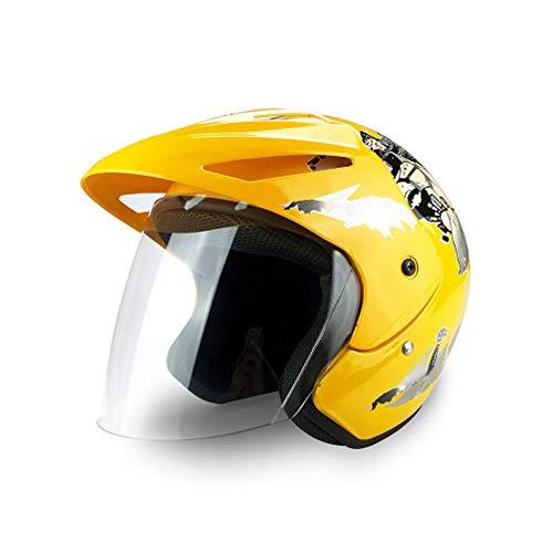 Kinderfahrradhelm Elektrischer Sonnenschutzhalbhelm Rennrad Mountainbike Fahrradhelm Leichte Fahrradhelme-Yellow