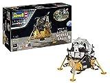 Revell 03701 Jubiläumsset Mondlandung Apollo 11 Lunar Module Eagle originalgetreuer Modellbausatz für Fortgeschrittene, mit Basis-Zubehör, Mehrfarbig -