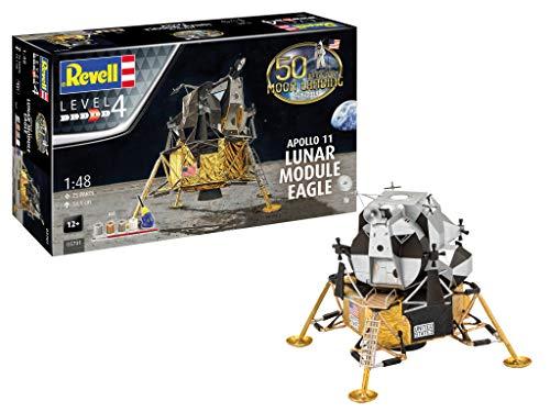 umsset Mondlandung Apollo 11 Lunar Module Eagle originalgetreuer Modellbausatz für Fortgeschrittene, mit Basis-Zubehör, Mehrfarbig ()