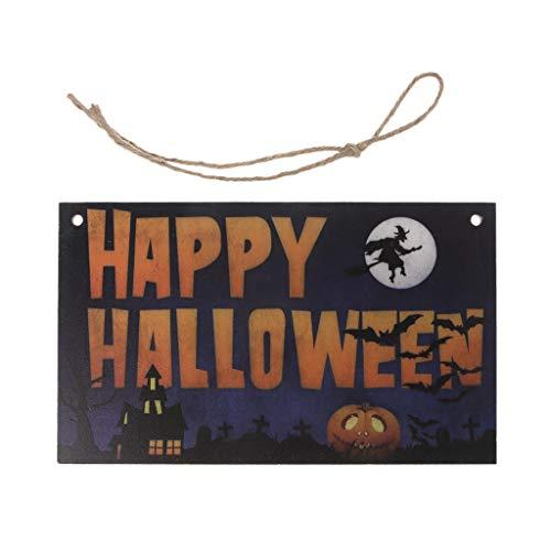 CADANIA Happy Halloween Holzfall hängen Plaque Board Wand Zeichen Tür Dekoration