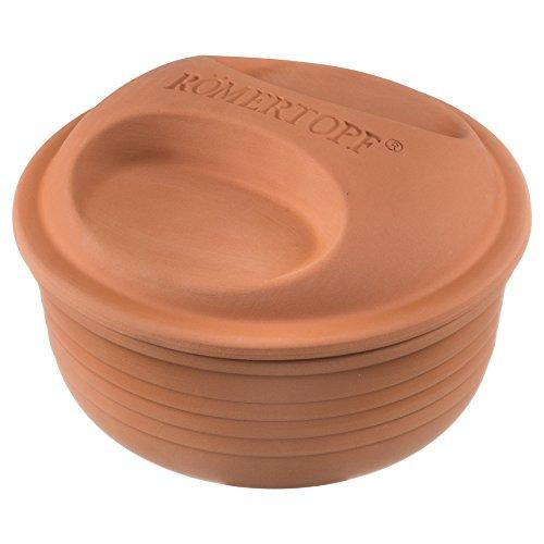 Römertopf Bräter runder Keramik Dampfgarer 2 Kg