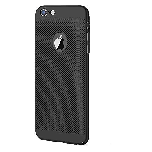 Funda para iPhone 6 6s, Ultra-Delgado Disipadores de Calor Carcasa 360° Anti-Sobrecalentamiento Anti-Arañazos Anti caída Totalmente Protectora Caso de Plástico Duro Case Cover (iPhone 6 6S, Negro)