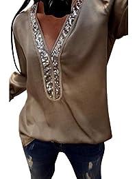 Lentejuelas Blusas Camisetas Camisetas Y Tops Amazon De Ew7qHf0zxx