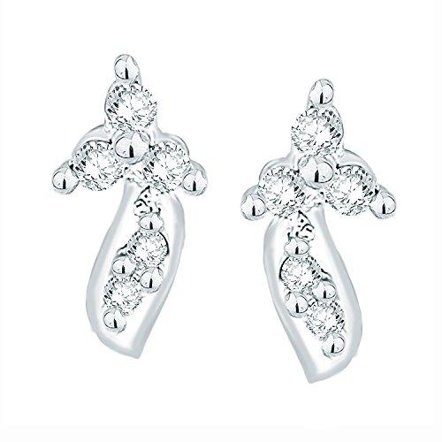 Giantti Diamant pour femme pendantes Boucles d'oreilles (0.06CT, qualité HSI, Gh-colour)