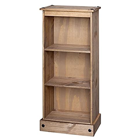 Mercers Furniture Corona Niedrige schmalen Bücherregal, Holz, antique wax, 46 x 20 x 104 cm