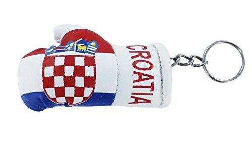 Porta chiavi Portachiavi Portachiavi, motivo: bandiera della Croazia croato della Croazia, motivo guanto da boxe