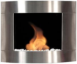 Bio Blaze BB d2i Ethanol Fireplace Diamond II, Wall Mounted, Stainless Steel