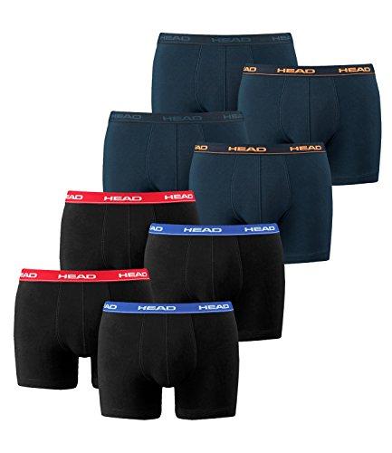 HEAD Men Boxershort 841001001 Basic Boxer 8er Pack, 2x Red/Blue/Black 2x Peacoat/Orange, XL Mens 8