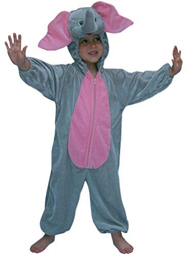 Karneval-Klamotten Elefant Kostüm Kinder aus Plüsch Dombo Elefant-Overall Karneval Tier-Kostüm Kinder-Kostüm Größe ()