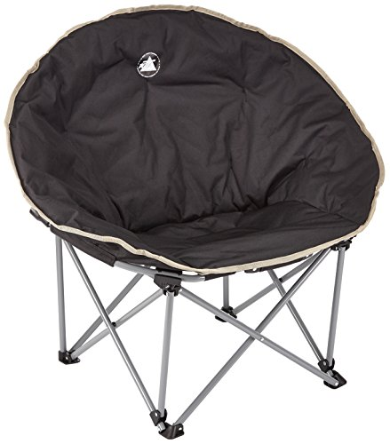 10T Outdoor Equipment 10T Moonchair XXL Campingstuhl Relax-Sessel mit Seitenhalt Gartenstuhl mit großer Sitzfläche Faltstuhl Klappstuhl Angelstuhl mit Transporttasche
