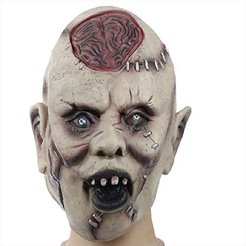 Gfdff maschera horror halloween in lattice 骷髅 脸 maschera per il viso maschera intera persona in lattice,nero rosso,mj