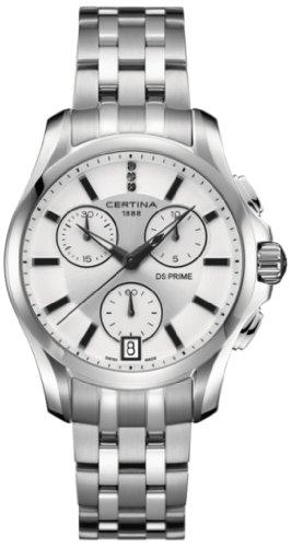 Certina - Orologio da polso, cronografo al quarzo, acciaio INOX, Donna
