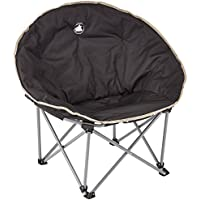 10T Outdoor Equipment, Sedia Camping- Moonchair, Nero (schwarz /silber /beige)