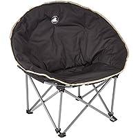 10T Moonchair XXL Campingstuhl Relax-Sessel mit Seitenhalt Gartenstuhl mit großer Sitzfläche Faltstuhl Klappstuhl Angelstuhl mit Transporttasche