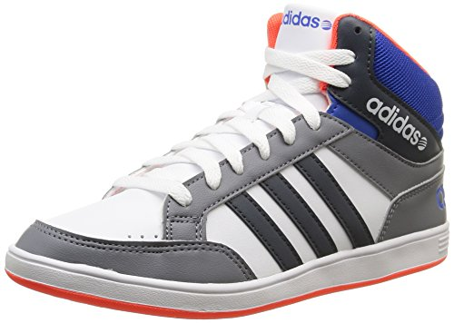 adidas NEO Hoops Team Mid, Unisex-Kinder Hohe Sneakers, Grau (Bold Onix/Blue/Running White), 38 2/3 EU